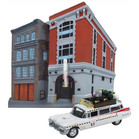 Ghostbusters™ II Ecto-1A 1959 Cadillac Diorama Façade (Includes Firehouse Exterior)