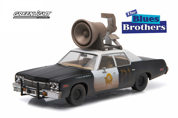 Greenlight Hollywood - 1974 Dodge Monaco Chicago Police Department The Blues Brothers Movie with Speaker on Roof
