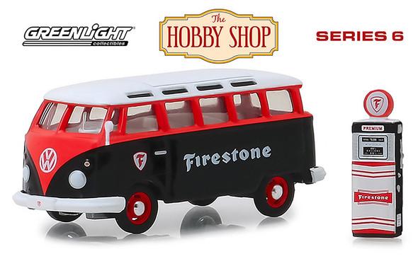 Greenlight - The Hobby Shop Series 6 | 1964 Volkswagen Samba Bus with Firestone Gas Pump