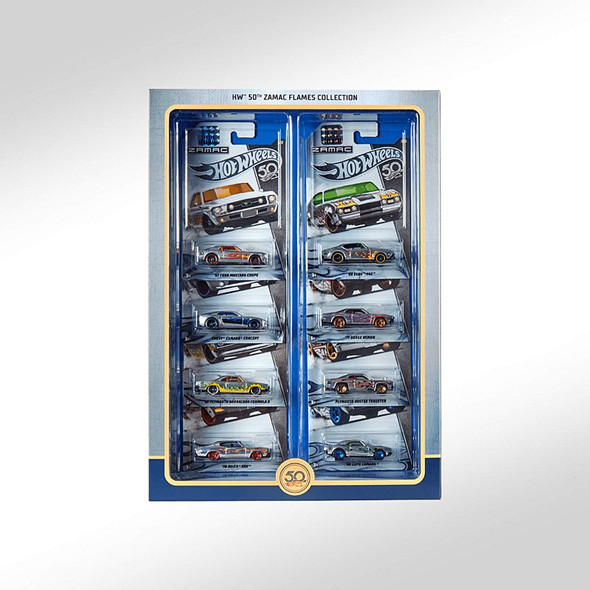 2018 Hot Wheels RLC 50th Anniversary Zamac Flames Collection Master Box Set