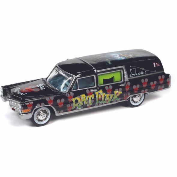 1966 Cadillac Hearse Rat Fink 1:64 Scale Diecast Replica Model