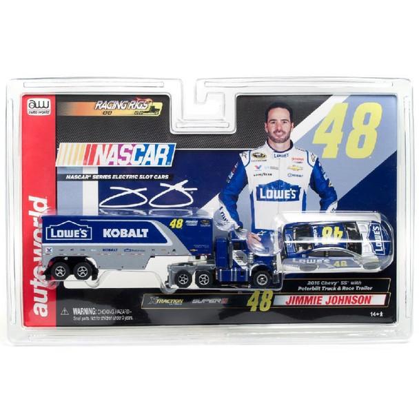Racing Rigs R11 Jimmie Johnson Race Car Truck Transporter 2 Pack Ho Slot Car