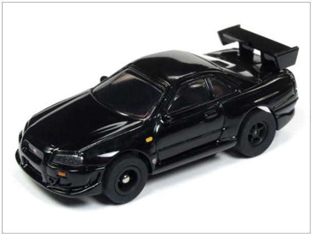 Auto World Xtraction R23 1999 Nissan Skyline Gt R Black Ho Scale Slot Car
