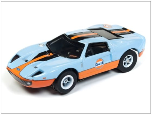 Auto World Xtraction R23 2005 Ford Gt Gulf Light Blue Ho Scale Slot Car