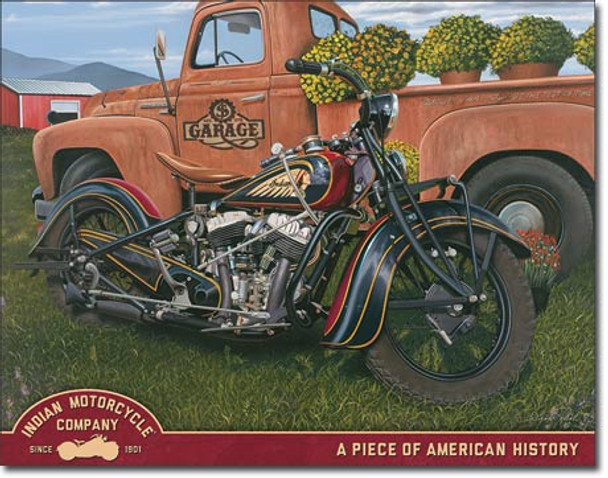 "TIN SIGN# 2304 Jacobs - Indian Summer  16""Wx12.5""H"