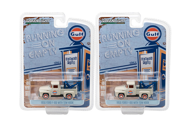 Greenlight - Running On Empty Series 4 | 1956 Ford F-100 with Drop-in Tow Hook Gulf Oil