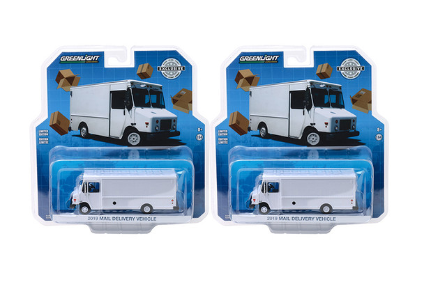 Greenlight - Undecorated Mail Delivery Vehicle (2019, 1/64 scale diecast model car, White) 30097/48
