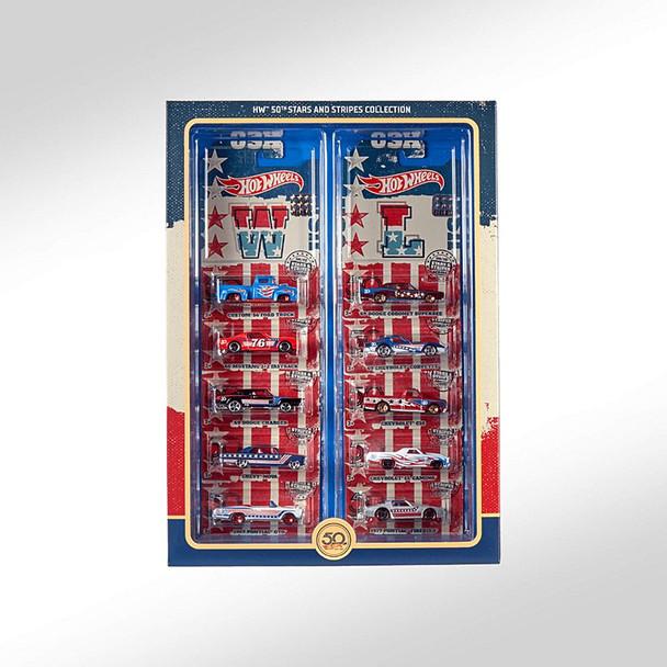 2018 Hot Wheels RLC 50th Anniversary STARS & STRIPES COLLECTION~Master Box Set