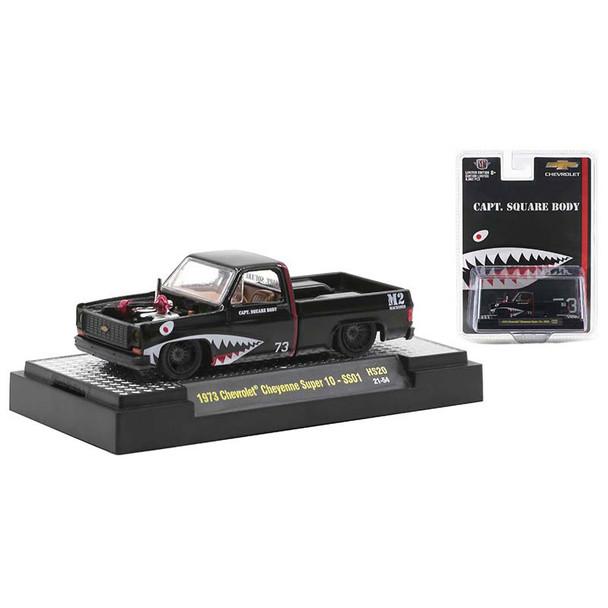 M2 Machines  1973 Chevrolet Cheyenne Super 10 SS01 CAPT Square Body Black 31500-HS20B