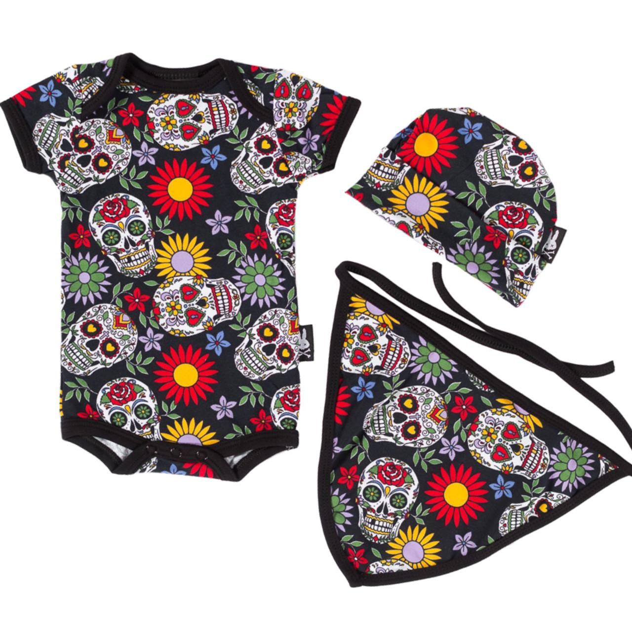 Six Bunnies tattoo shoppe gift set baby clothes alternative goth rock metal