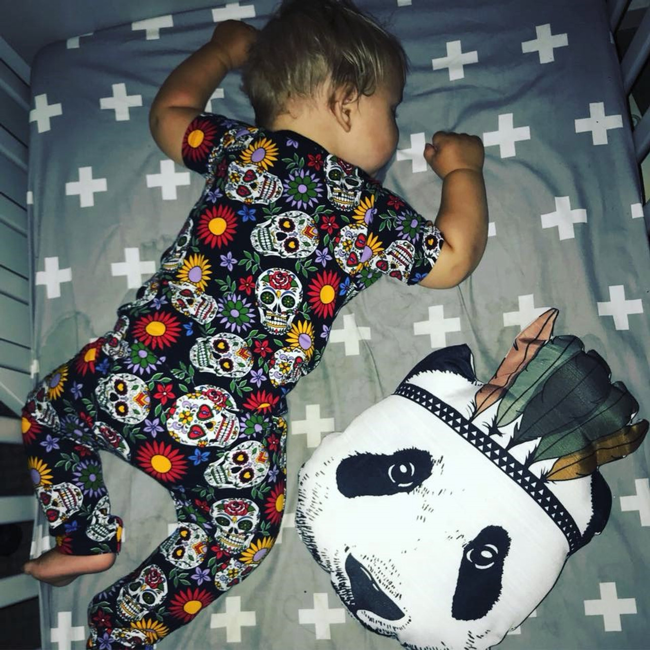 6355a4919a5c4 Six Bunnies Sugar Skulls Pyjama Set