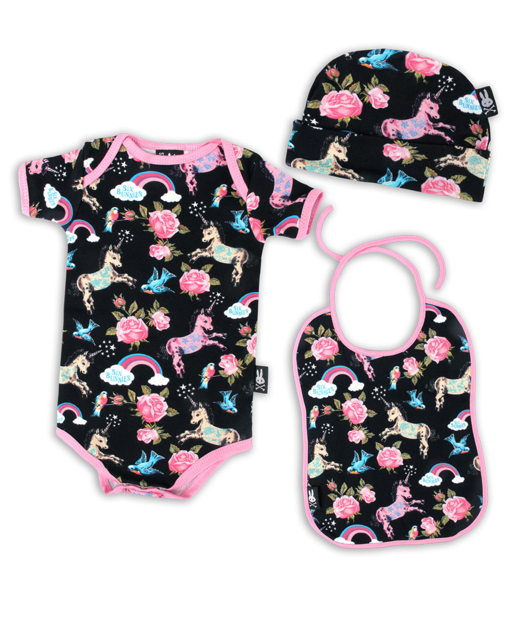 5c491a23ecc Six Bunnies Unicorn Wonderland onesie