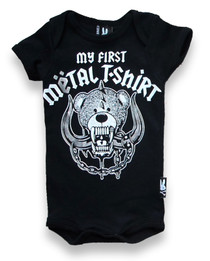 Six Bunnies First Metal Tee Shirt Baby Onesie