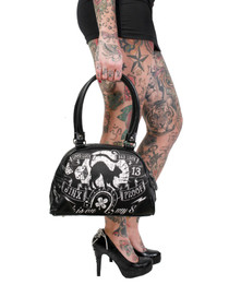 Liquorbrand Jinx Proof Gothic Old School Tattoo Bowler Bag - Model