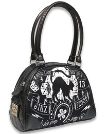Liquorbrand Jinx Proof Gothic Old School Tattoo Bowler Bag