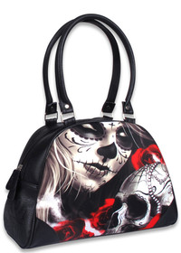 Liquorbrand Eternal Bliss Sugar Skull Bowler Bag