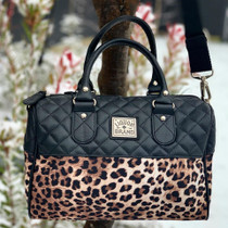 Liquorbrand Leopard Print Round Faux Leather Bag