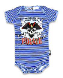 Six Bunnies Jolly Roger Pirate Baby Onesie