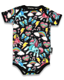 Six Bunnies Unicorn Baby Romper Onesie