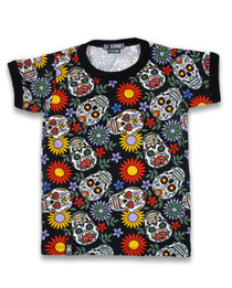 Six Bunnies Sugar Skull Tee Shirt