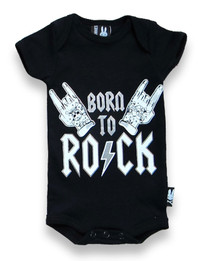 Six Bunnies Born to Rock Baby Onesie