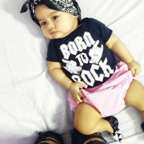 Six Bunnies Born to Rock Baby Onesie - baby