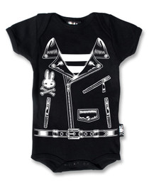 Six Bunnies Rocker Jacket Baby Onesie