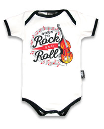 Six Bunnies Born to Rock n Roll Baby Onesie