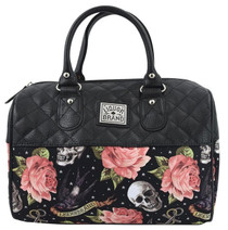 Liquorbrand Rose Tattoo Round Shoulder Bag - front