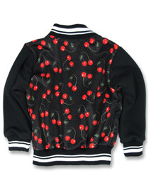 Six Bunnies Cherries Varsity Jacket - back