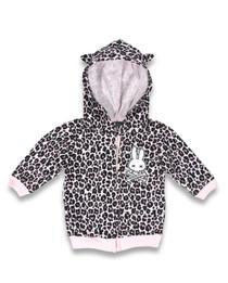 Six Bunnies Pink Leopard Print Hoody Jacket