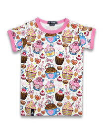 Six Bunnies Cupcakes Tee Shirt