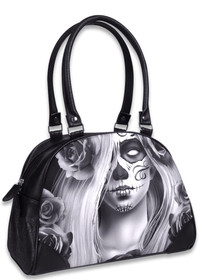 Liquorbrand Love Bowler Bag - Day of the Dead Gypsy