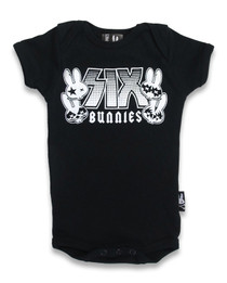 Six Bunnies Rock Bunny Baby Onesie