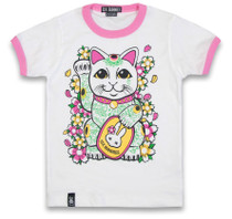Six Bunnies Maneki Neko Kids Tee Shirt