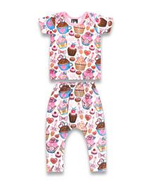 Six Bunnies Cupcakes Pyjama Set