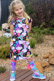 Girls Unicorn and Pegasus Dress - Full Shot
