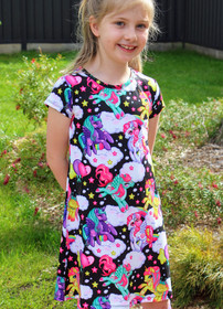 Girls Unicorn and Pegasus Dress