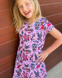 Six Bunnies Tattoo Shoppe Kids Dress