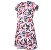 Six Bunnies Tattoo Shoppe Kids Dress - side