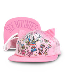 Six Bunnies True Love Cap - Pink