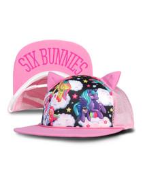 Six Bunnies Pegasus Pink Cap
