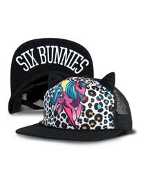 Six Bunnies Unirock Kids Cap - Unicorn and Leopard print