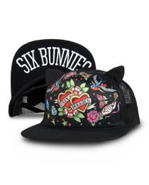 Six Bunnies Heart Tattoo Kids Cap