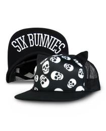 Six Bunnies Polka Skulls Cap