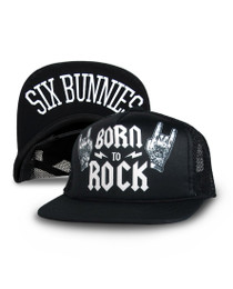 Six Bunnies Born to Rock Kids Cap