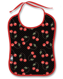 Six Bunnies Cherries Baby Bib