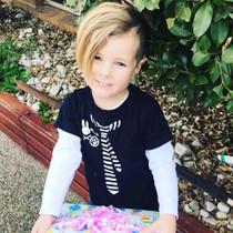 Six Bunnies Little Punk Kids Tee Shirt - boy model
