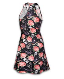 Liquorbrand Rose Tattoo Monroe Halter Dress - back