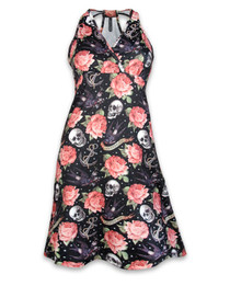 Liquorbrand Rose Tattoo Monroe Halter Dress